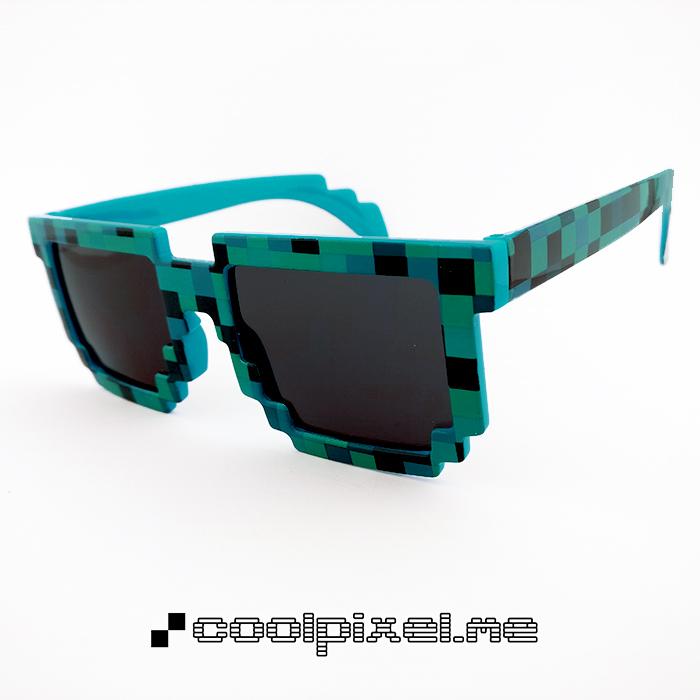 MODEL 071 – STEL mønstret, blå grøn, blank, mosaic – LINSE normal – STR 14,3